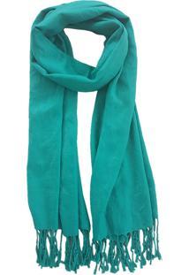 Cachecol Bag Dreams Com Franja Verde - Multicolorido - Dafiti