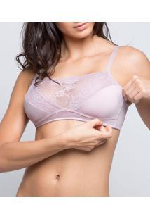 Sutiã Mastectomia Ampla Cobertura Darling Mastec Lace (324.22), Nude, M