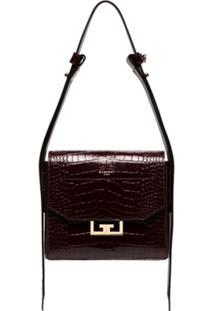 Givenchy Bolsa Tiracolo Com Textura Croco 'Eden' Pequena - Vermelho
