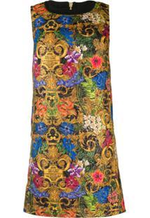 Versace Jeans Couture Vestido Reto Com Estampa Floral - Amarelo
