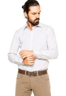 Camisa Ellus Micro Poá Cinza
