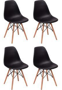 Cadeira E Banco De Jantar Impã©Rio Brazil Charles Eames Eiffel - Incolor/Preto - Dafiti