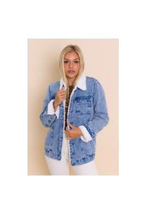 Jaqueta Jeans Oversized Forrada Bela