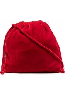 Aspesi Bolsa Bucket Com Efeito De Veludo - Vermelho
