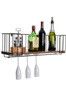 Prateleira Para Bar, Vinho, Adega, Taças - Kanui