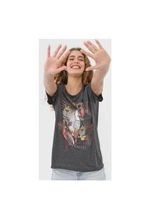 Camiseta Colcci Aves Grafite