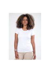 Camiseta Meio Swag Básica Gola Redonda Branca