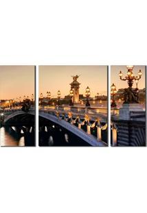 Quadro Franã§A Paris Alexander Bridge - Multicolorido - Dafiti