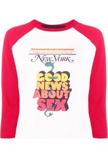 Marc Jacobs Blusa New York Magazine De Jersey - Branco