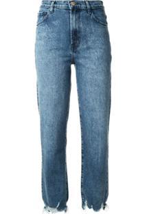 J Brand Calça Jeans Reta Com Efeito Destroyed - Azul