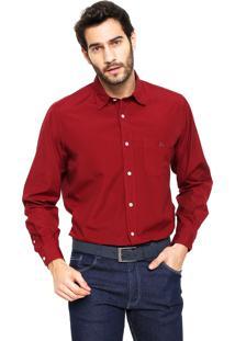 Camisa Polo Play Reta Fio 100 Vermelha