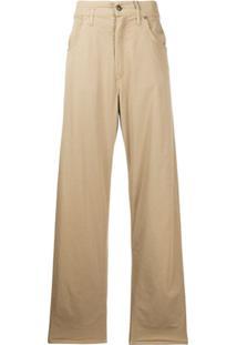 Etro Calça Jeans Pantalona Com Cintura Alta - Neutro