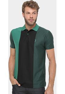 Camisa Polo Aleatory Listras Masculina - Masculino