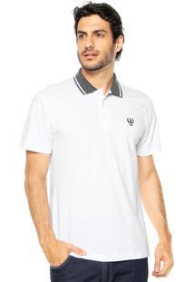 Camisa Polo Coca-Cola Jeans Slim Branca