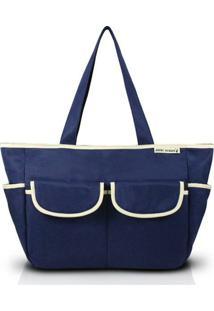 Bolsa De Lisa - Jacki Design - Feminino-Azul+Bege