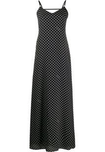 Boutique Moschino Vestido Longo Com Poás - Preto