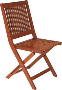 Cadeira Sem Braços Fitt Dobrável De Madeira Terrazzo Fitt - Tramontina