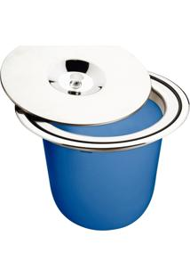 Lixeira De Embutir 8 Litros Azul - Tramontina