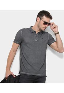 Camisa Polo Replay Sublime Estonada Masculina - Masculino-Chumbo