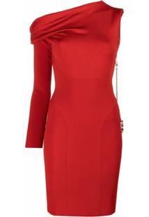 Az Factory Vestido Mybody Com Mangas Assimétricas - Vermelho