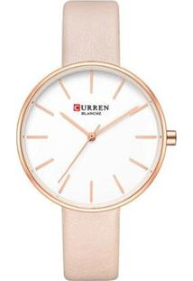 Relógio Curren Analógico C9042L Feminino - Feminino-Rosa