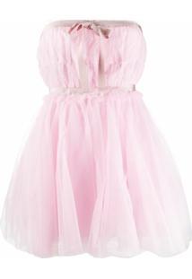Brognano Vestido Com Sobreposição - Rosa