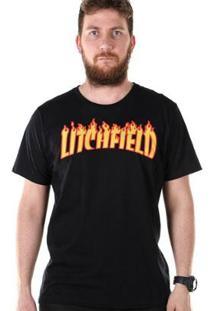 Camiseta Bandup! Bdp Clothing Litchfield Masculina - Masculino-Preto