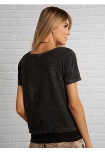 Camiseta John John Rocker Details Malha Cinza Feminina (Shirt Rocker Details, P)