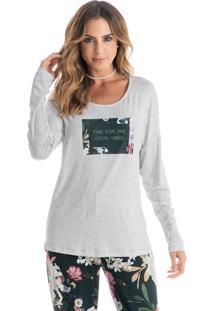 Pijama Esmeralda Longo C/ Silk Verde/P