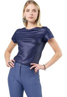 Blusa Mx Fashion Cirrê Willian Azul Marinho