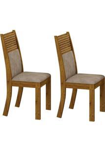 Conjunto Com 2 Cadeiras Havaí Canela E Cinza