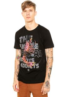 Camiseta Nicoboco Beatles Lobster Preta