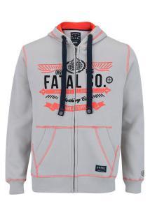 Jaqueta De Moletom Com Capuz Fatal 8904 - Masculina - Branco
