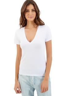 Blusa Le Lis Blanc Flavia Ii Malha Branco Feminina (Branco, G)