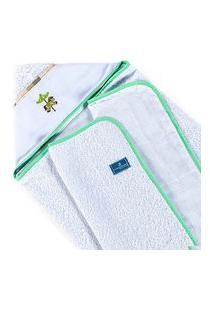 Toalha De Banho Infantil Bebê Fralda Conforto Carrossel Verde