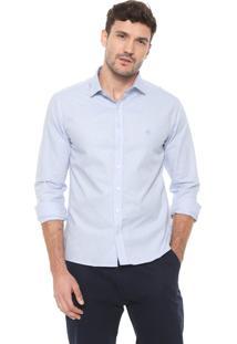 Camisa Dudalina Slim Fio Tinto Azul