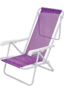 Cadeira Reclinável Aço 8 Posições - Unissex-Lilás