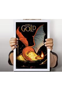 Poster Fire And Gold