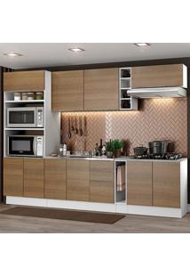Cozinha Completa Madesa Stella 290001 Com Armário E Balcão Branco