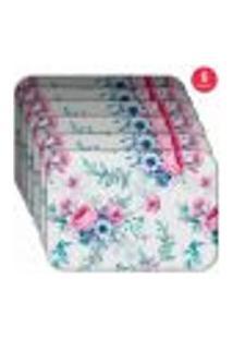 Jogo Americano Wevans Floral Premium Kit Com 6 Pçs