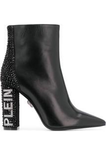 Philipp Plein Bota Com Cristal - Preto