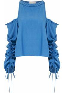 Framed Blusa 'Athena' Mangas Longas - Azul