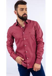 Camisa Lupim Slim Fit Vermelha