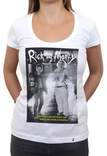 Rick And Morty Are Back To The Future - Camiseta Clássica Feminina