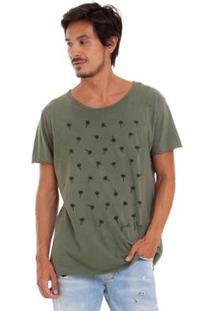 Camiseta Joss Estonada Corte A Fio Coq Masculina - Masculino-Verde
