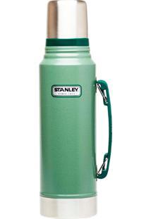 Garrafa Térmica 1 Litro Em Inox Stanley Classic Hammertone Verde