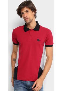 Camisa Polo Em Piquet Rg 518 Com Recortes Masculina - Masculino