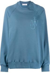 Jw Anderson Blusa De Moletom Oversized - Azul