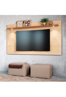 Painel Home Para Tv Até 65 Polegadas 1 Prateleira Astúrias Colibri Móveis
