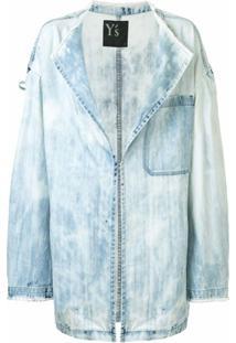 Y'S Jaqueta Jeans Oversized - Azul